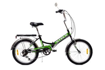 "410 chernyy zelenyy 350x233 - Велосипед Стелс (Stels) Pilot-410 20"" Z011, Сталь  , р. 13,5"", цвет Чёрный/зелёный"