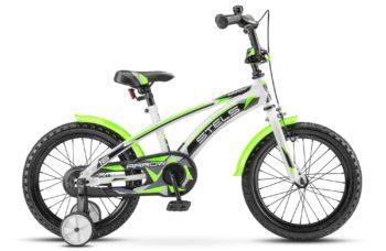 "Arrow 16 V020 white green 350x228 - Велосипед Стелс (Stels) Arrow 16"" V020, Сталь , р9,5"", цвет Белый/зеленый"
