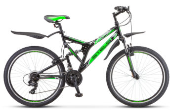"Challenger V 26 Z010 black green 350x228 - Велосипед Стелс (Stels) Challenger V 26"" Z010, Сталь , р 20"", цвет Черный/зелёный"