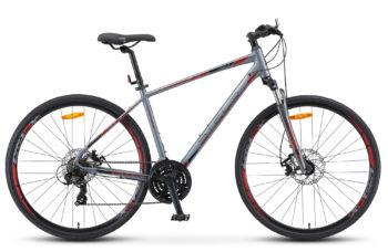 "Cross 130 MD Gent 28 V010 gray 350x228 - Велосипед Стелс (Stels)Cross-130 MD Gent 28"" V010 , Алюминий , р. 17"", цвет Серый"