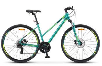 "Cross 130 MD Lady 28 V010 green matt 350x228 - Велосипед Стелс (Stels) Cross-130 MD Lady 28"" V010 , Алюминий , р. 15,5"", цвет Зелёный"