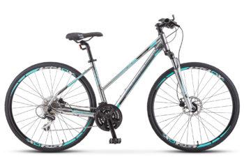 "Cross 150 D Lady 28 V010 chrome 350x228 - Велосипед Стелс (Stels) Cross-150 D Lady 28"" V010 , Алюминий X6, р. 15,5"", цвет Хром"