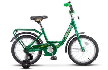 "Flyte 16 Z011 green 2018 350x228 - Велосипед Стелс (Stels)Flyte 16"" Z011, Сталь , р 11"", цвет   Зелёный"