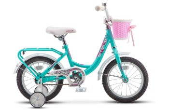 """Flyte Lady 14 Z011 Turquoise 350x228 - Велосипед Стелс (Stels) Flyte Lady 14"""" Z011, Сталь , р 9,5"""", цвет   Мятный"""