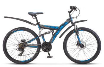 "Focus MD 26 21 sp V010 black blue 350x228 - Велосипед Стелс (Stels) Focus MD 26"" 21-sp V010 , р 18"", цвет  Черный/синий"