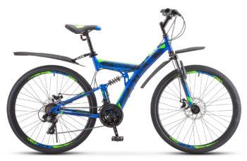 "Focus MD 27.5 21 sp V010 blue neon green 1 350x228 - Велосипед Стелс (Stels) Focus MD 27.5"" 21-sp V010 , р 19"", цвет Синий/неоновый зелёный"