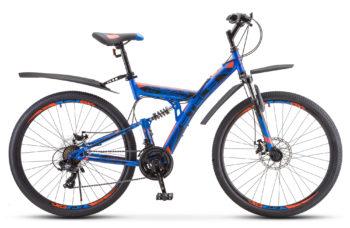 """Focus MD 27.5 21 sp V010 blue neon red 350x228 - Велосипед Стелс (Stels) Focus MD 27.5"""" 21-sp V010 , р 19"""", цвет Синий/неоновый_красный"""