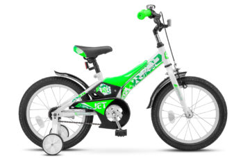"Jet 16 Z010 white light green 350x228 - Велосипед Стелс (Stels) Jet 16"" Z010, Сталь , р 9"", цвет   Белый/салатовый"