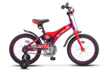 "Jet 16 Z010 Purple Orange 1 350x228 - Велосипед Стелс (Stels) Jet 16"" Z010, Сталь , р 9"", цвет    Фиолетовый/оранжевый"