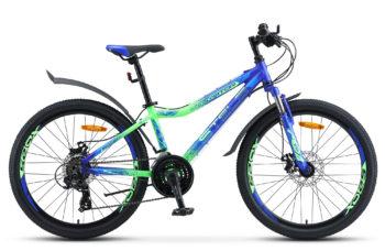 """Navigator 450 MD 24 V030 blue neon green matt 350x228 - Велосипед Стелс (Stels) Navigator-450 MD 24"""" V030, Алюминий , р13"""", цвет  Синий/неоновый_зелёный"""