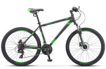 """Navigator 500 D 26 F010 black green 350x228 - Велосипед Стелс (Stels) Navigator-500 D 26"""" F010 , Сталь, р 16"""", цвет  Чёрный/зелёный"""