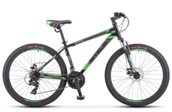 "Navigator 500 MD 26 F010 black green 350x228 - Велосипед Стелс (Stels) Navigator-500 MD 26"" F010 , Сталь, р 16"", цвет Чёрный/зелёный"